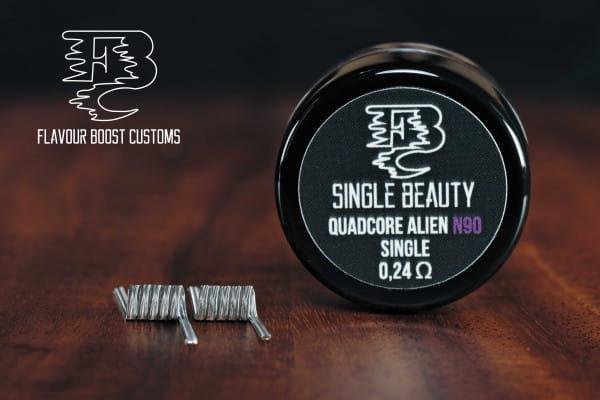 Flavour Boost Customs - Single Beauty 0,24 ohm single Ni90 Quadcore Alien