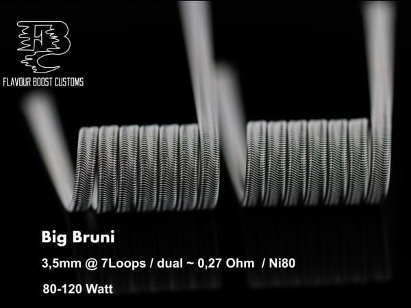 Flavour Boost Customs - BIG BRUNI 0,27 ohm Ni80 3core Alien Coil