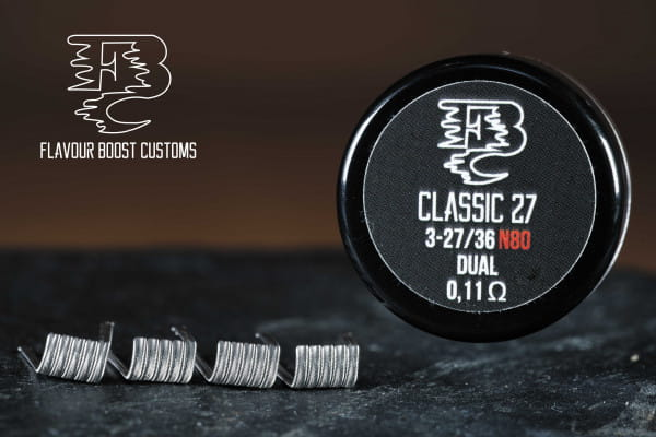 flavour boost customs classic 25 handmade coil