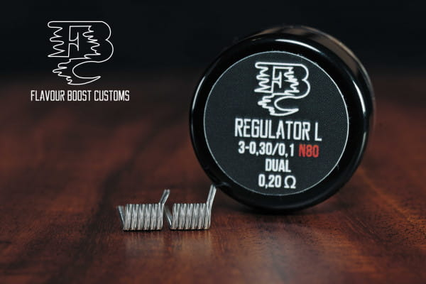 Flavour Boost Customs - REGULATOR L 0,2 ohm dual (3*0,30/0,1) 2x Handmade Coils