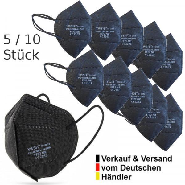FFP2 Atemschutzmaske Mundschutz schwarz